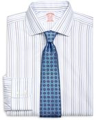 Brooks Brothers Non-Iron Madison Fit Alternating Stripe Dress Shirt - Lyst