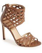 Stuart Weitzman 'Cajun' Leather Sandal - Lyst