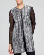 Elie Tahari Melody Reversible Coat - Lyst