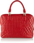 Versace Quilted Leather Tote - Lyst