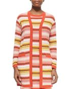 Missoni Long Zigzag-Striped Open Cardigan - Lyst