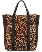 Ash Lux Leopard-Print Tote Bag - Lyst