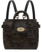 Mulberry Mini Cara Delevingne Camouflage Haircalf Bag - Lyst