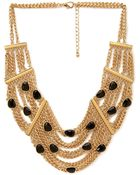 Forever 21 Chained Faux Gemstone Necklace - Lyst