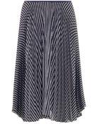 Theory Zeyn W Striped Satin Skirt - Lyst