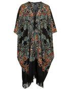 Topshop Paisley Print Blanket Kimono - Lyst