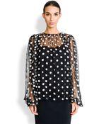 Dolce & Gabbana Tulle Dot Blouse - Lyst