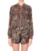 Valentino Camubutterfly Cotton Bomber Jacket - Lyst