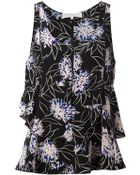 Thakoon Addition Floral Print Ruffled Top - Lyst