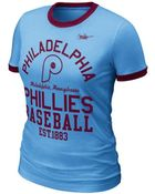 Nike Womens Philadelphia Phillies Coop Ringer Tshirt - Lyst
