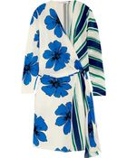 Chloé Printed Silk Crepe De Chine Wrap Dress - Lyst