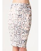 Bebe Print Midi Skirt - Lyst