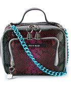 House Of Holland Lunch Box Snake-effect Leather Shoulder Bag - Lyst