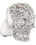 Alexander McQueen Skull Filigree Ring - Lyst