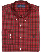 Polo Ralph Lauren Regular Fit Plaid Dress Shirt - Lyst