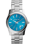 MICHAEL Michael Kors Mid-Size Silver Color Stainless Steel Runway Three-Hand Watch - Lyst