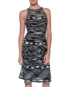 M Missoni Crochet-Knit Cotton Dress - Lyst