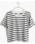 Madewell Crop Tee In Boating Stripe - Lyst