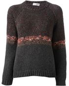 Brunello Cucinelli Chunky Knit Sweater - Lyst