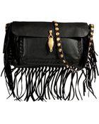 Valentino Leather Fringe Shoulder Bag - Lyst