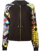Versus  Hooded Sleeve-Detail Sweatshirt - Lyst