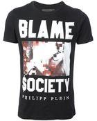 Philipp Plein Blame Society Tshirt - Lyst