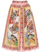 Dolce & Gabbana Printed Cotton Skirt - Lyst