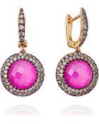 Astley Clarke Mini Ruby Connie Earrings - Lyst