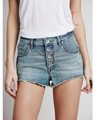 Free People Womens Flawless High Rise Cutoffs - Lyst