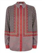 Jaeger Silk Tile Shirt - Lyst