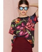 Nasty Gal Cameo Static Floral Tee - Lyst