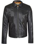 Nudie Jeans Black Jonny Worn Leather Jacket - Lyst