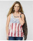 Denim & Supply Ralph Lauren Flag-Graphic Slouchy Tank - Lyst