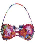 Seafolly Graphic Rose Bandeau Bikini Top - Lyst