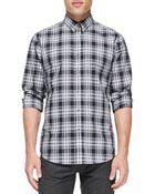 Theory Plaid Button-Down Shirt - Lyst