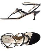 Borbonese Thong Sandal - Lyst