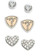 Guess Two-Tone Pavé Stud Earring Set - Lyst