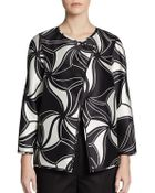 Lafayette 148 New York Venus Printed Wool/Silk Jacket - Lyst