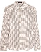 Isabel Marant Dully Checked Linen And Cotton-Blend Shirt - Lyst