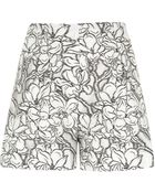 River Island White Floral Print Lace Smart Shorts - Lyst