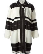 Isabel Marant Striped Coat - Lyst