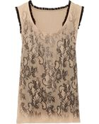 Valentino Lace-Print Cotton-Blend Top - Lyst