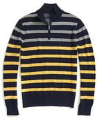 Tommy Hilfiger Stripe Half Zip Sweater - Lyst