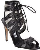 Manolo Blahnik Cutout Sandal - Lyst