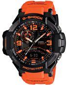 G-Shock Men'S Analog-Digital Orange Resin Strap Watch 51X52Mm Ga1000-4A - Lyst