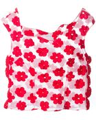 Simone Rocha Sheer Embroidered Flower Top - Lyst