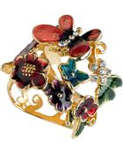 Guess Ring, Multicolor Flower And Butterfly - Lyst