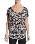 Joie Maddie Leopard-Print Linen Top - Lyst