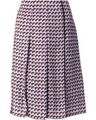 Marc Jacobs Fan Pleated Skirt - Lyst