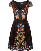 Temperley London Toledo Embroidered Silk-Blend Organza Dress - Lyst